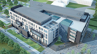 Visualisation of the new Bristol Business School building