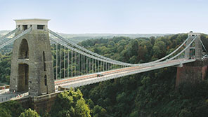 Bristol's famous Clifton Suspension Bridge
