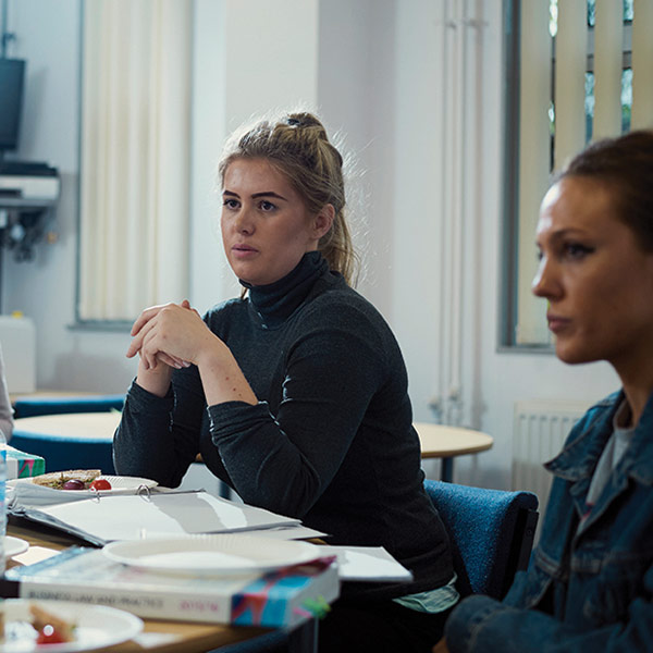 Bristol Law School students from the Pro Bono Unit in a meeting with a client