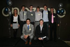 Group photo of students celebrating placements success 2010