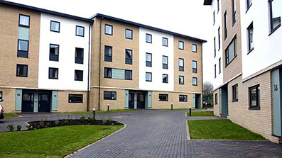 An image of an accommodation block on Frenchay Campus
