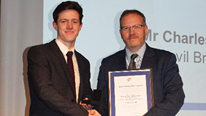 Aerospace Engineering student, Charlie Muir, honoured by The Royal Aeronautical Society