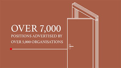 Over 7,000 positions advertised by over 5,000 organisations