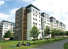 External view of the UWE Student Village on Frenchay Campus