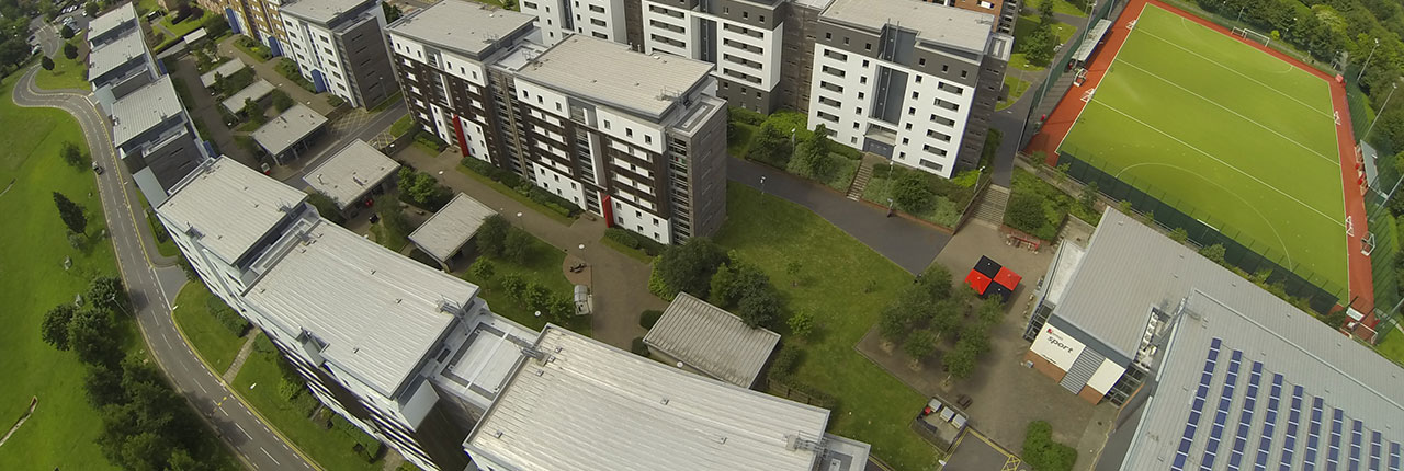 Aerial Frenchay Student Village