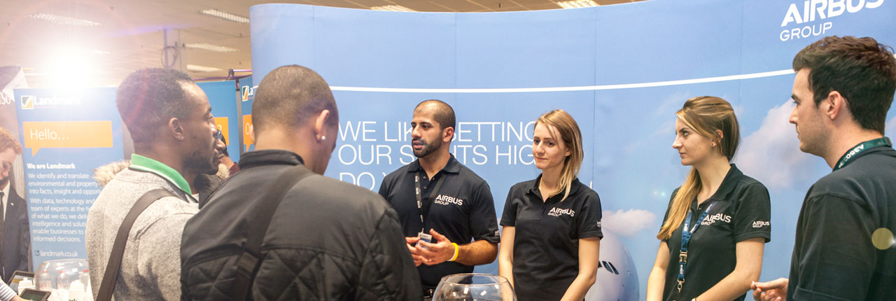 Airbus stand at the Employers Fair