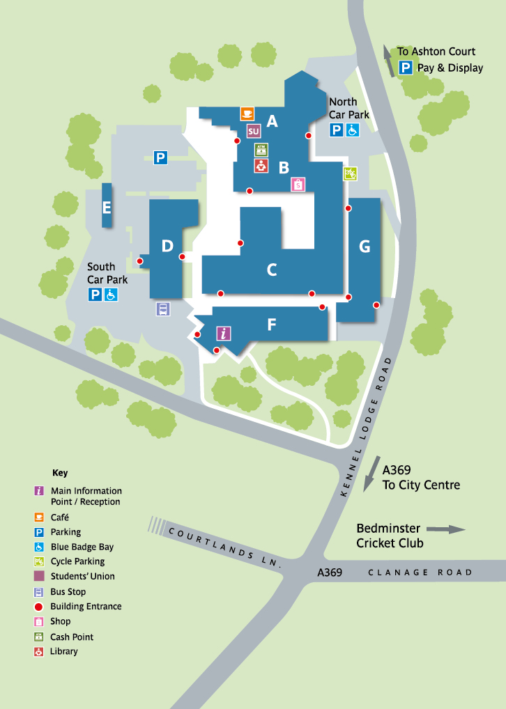City Campus at Bower Ashton map