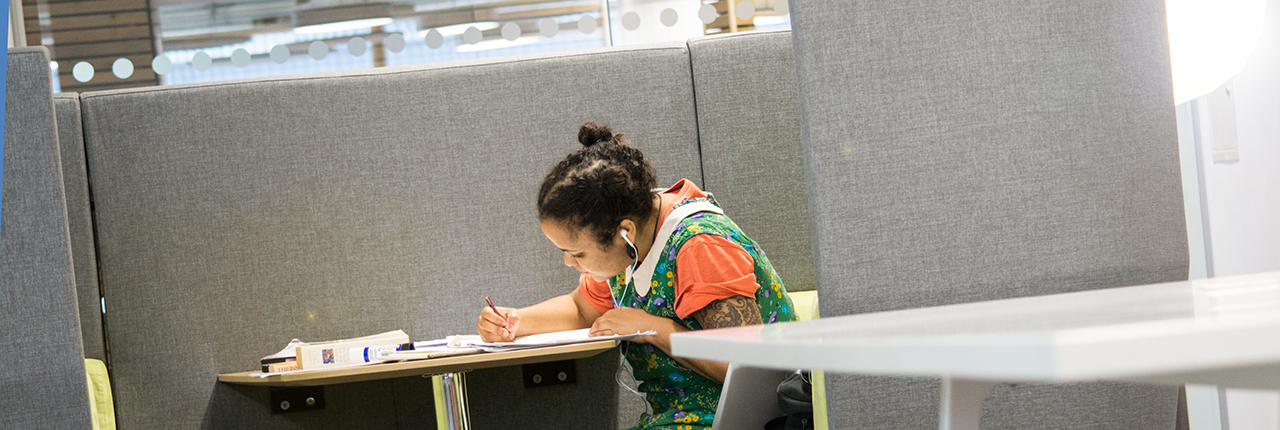 Female student working at Bower Ashton Campus