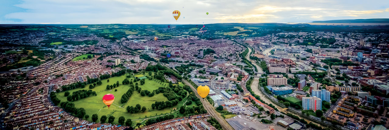 Aerial view of Bristol - © Syed Zaidi - www.photographyrush.co.uk