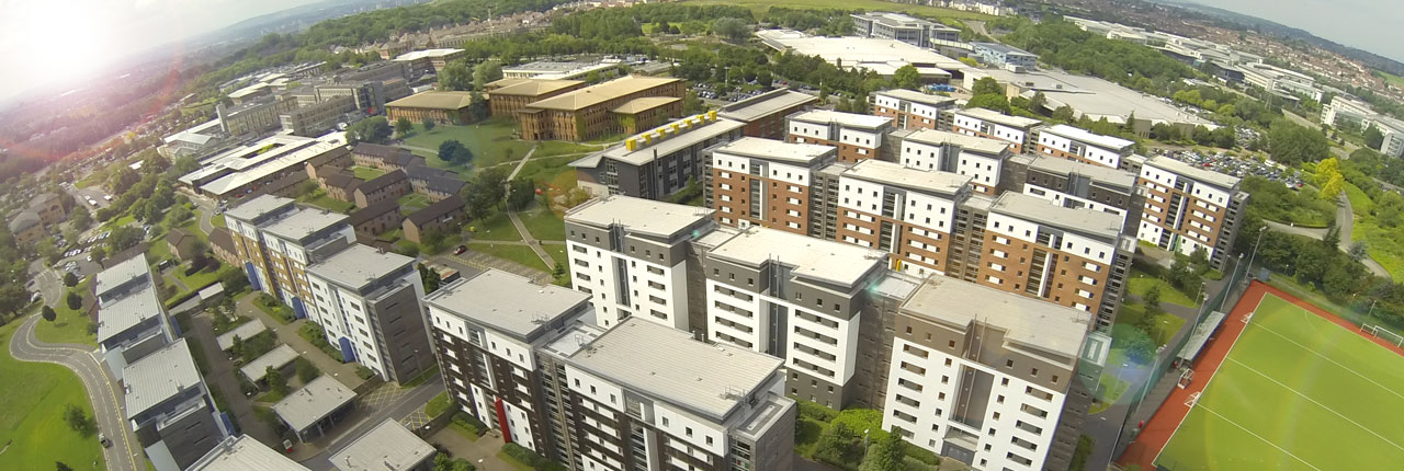 Aerial view of Frenchay Campus