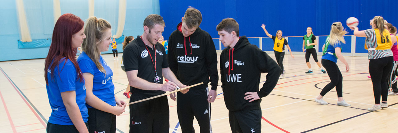 Students involved in the coaching programme at the Centre for Sports