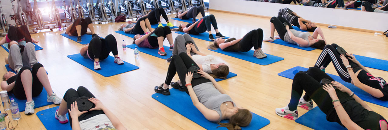 Fitness class in the Centre for Sport