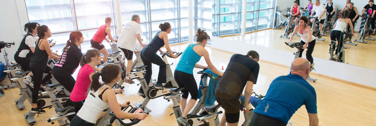 Spin class at the Centre for Sport