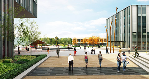CGI of the Heart Zone, Frenchay Campus