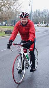 Chris Bloomfield training for charity cycle