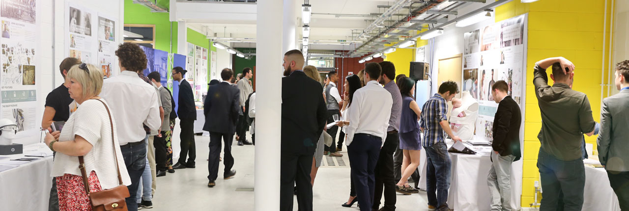 Visitors to the Environment and Technology Degree Show
