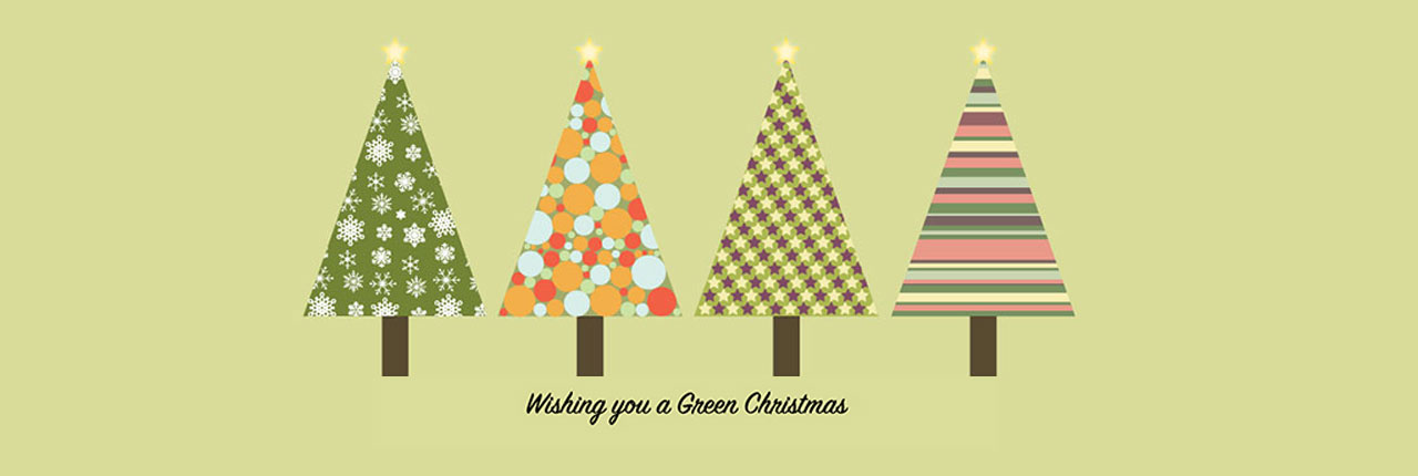 Christmas e-Card Competition - Winning design of four Christmas trees