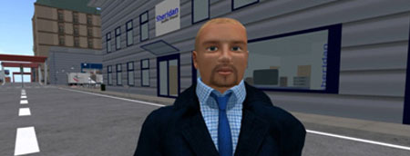 Avatar of David Sheridan in a virtual street