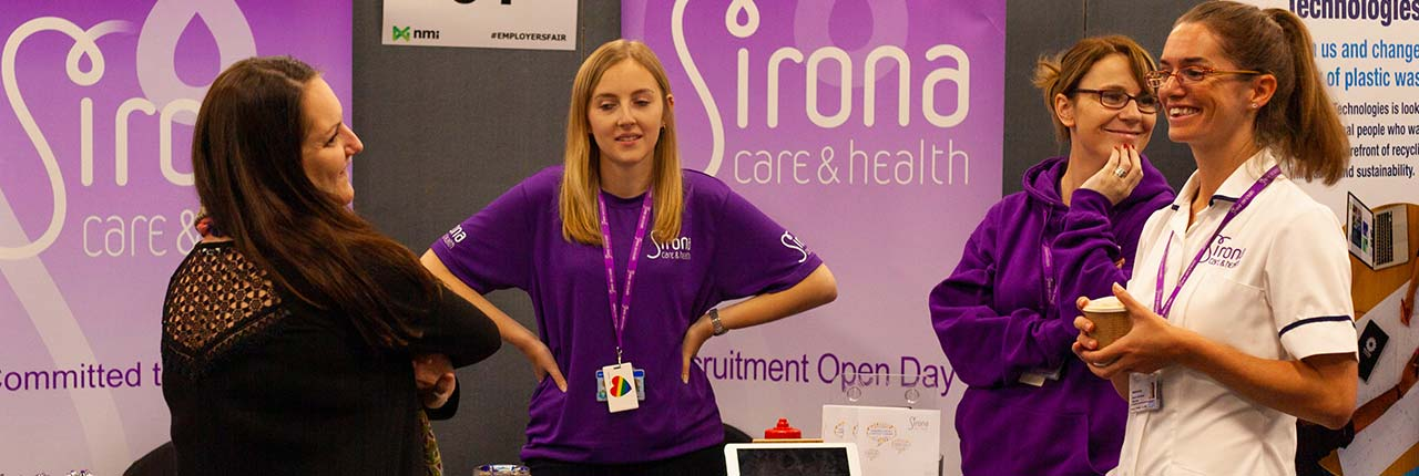 A stall at the Meet the Employers fair
