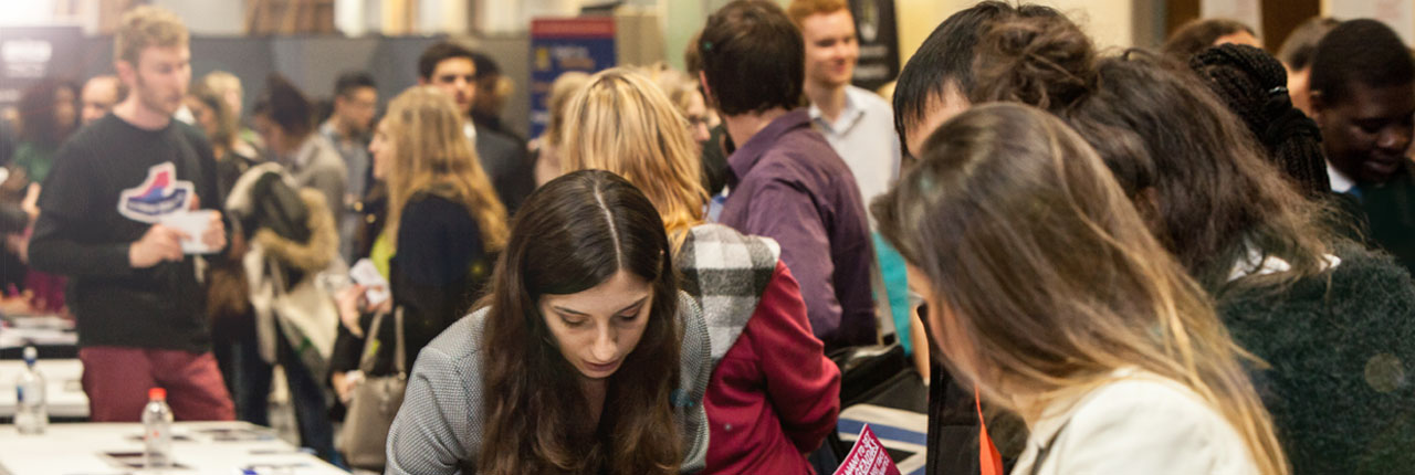 Students at a UWE Bristol careers fair