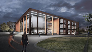 Artists impression of new engineering building