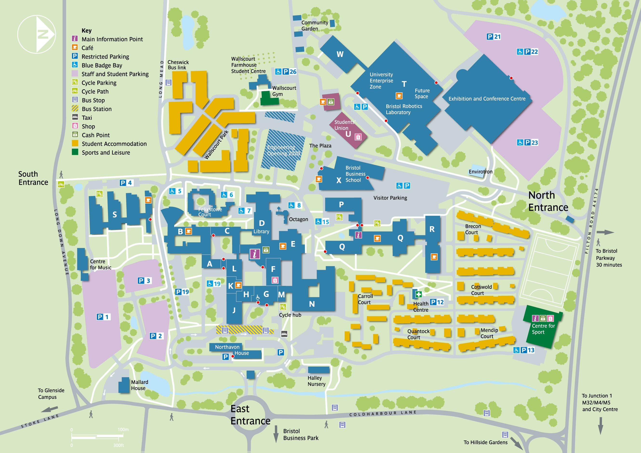 Map Of Uk Bristol.Frenchay Campus Maps Uwe Bristol Campus Maps And Information