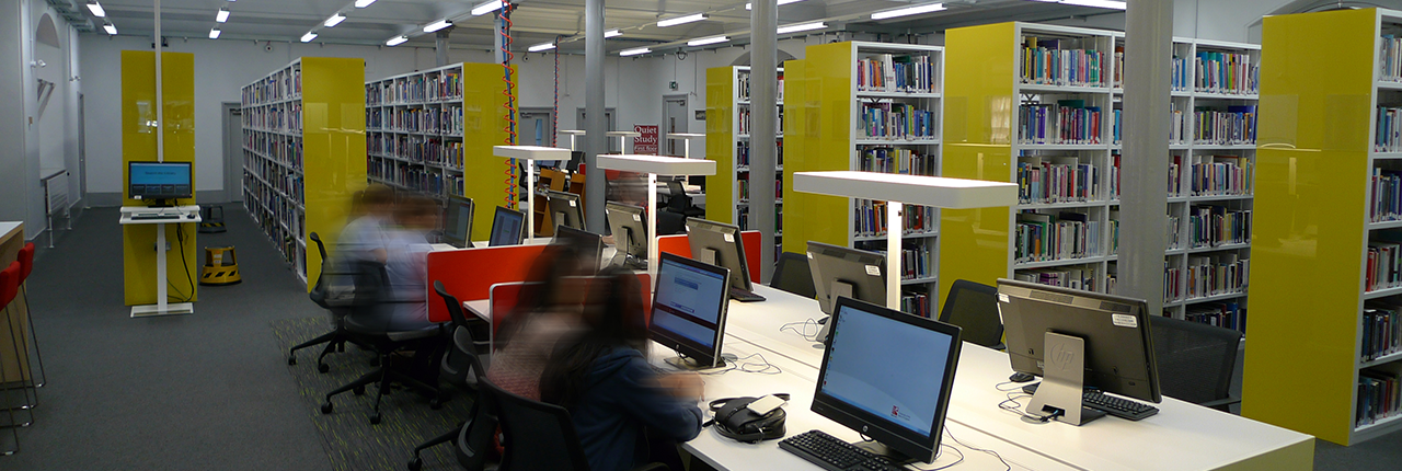 Students working in Glenside Library