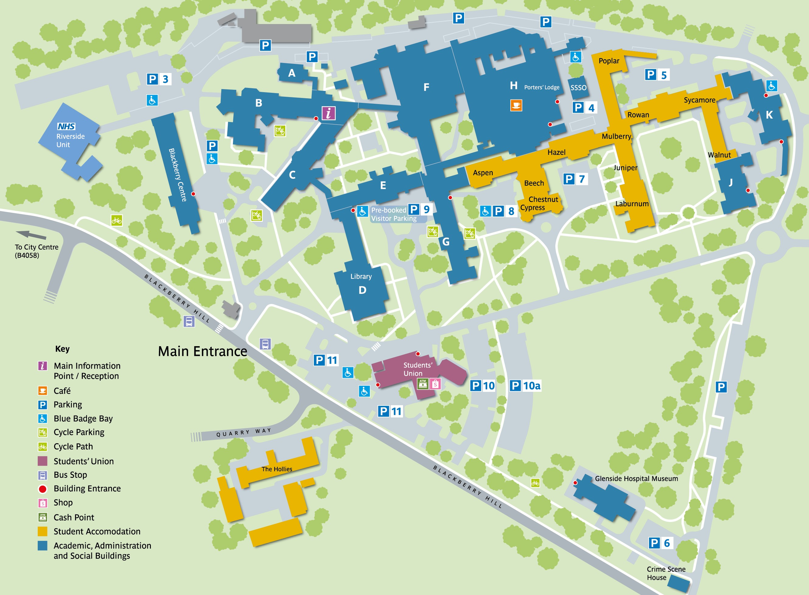 Map Of Uk Bristol.Glenside Campus Map Uwe Bristol Campus Maps And Information