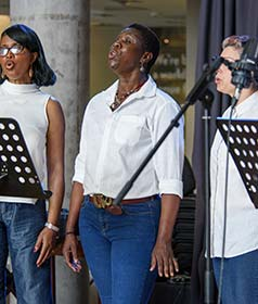 Gospel Choir performing at Festival of Sound