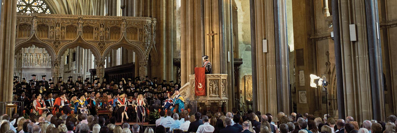 A UWE Bristol Graduation ceremony in Bristol Cathedral