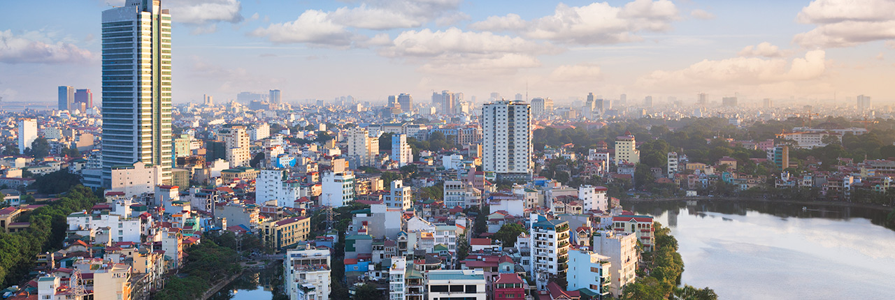 View over the city of Hanoi, Vietnam