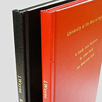 Example of hardback binding