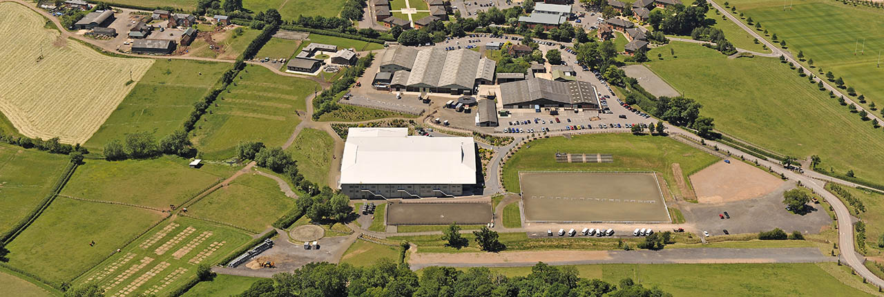 Hartpury College - aerial view
