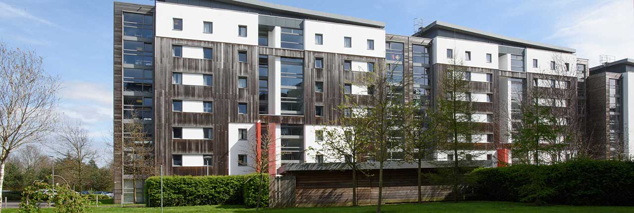 A student accommodation building on Frenchay Campus