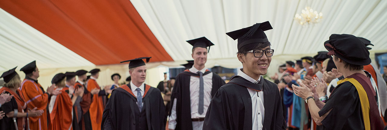 UWE Bristol students wearing robes on their graduation day