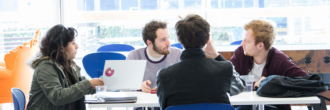 Students in a discussion at UWE Bristol