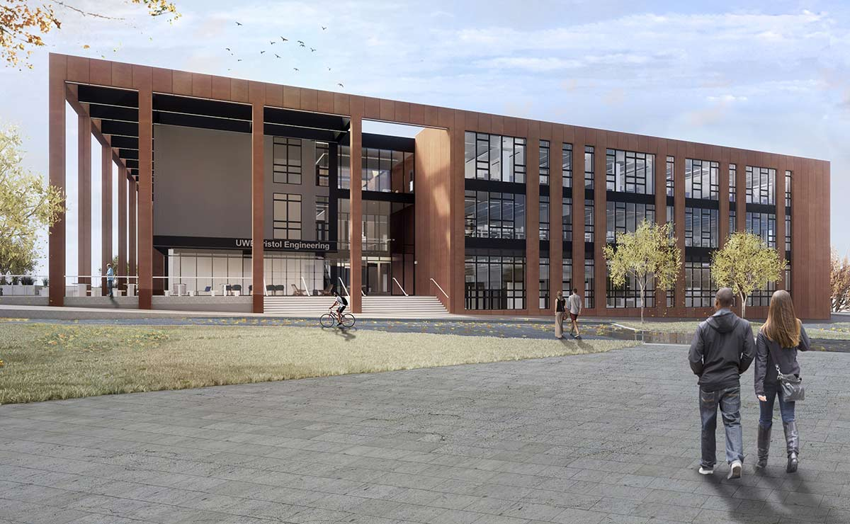 Artist impression of the new engineering building
