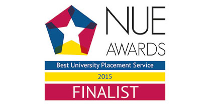 NUE Awards 2015 graphic: Best University Placement Service 2015 finalist