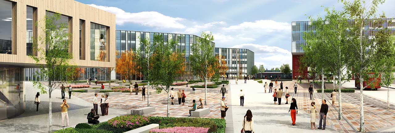Artists impression of the new UWE Bristol campus