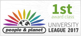 People and Planet 1st award class University League 2017