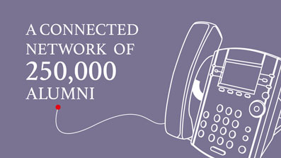 A connected network of 250000 alumni
