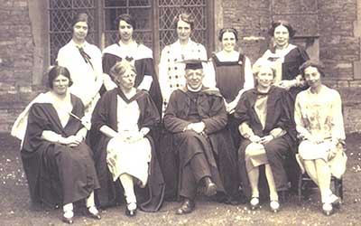 Staff at the Gloucester and Bristol Diocesan Training School for school mistresses - 1927