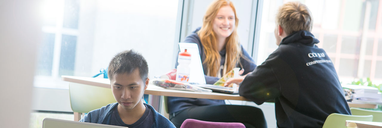 Students working in Onezone, Frenchay Campus