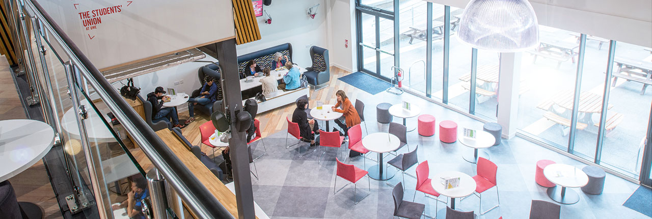 The Students' Union bar on Frenchay Campus