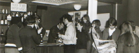 Students in the Student's Union bar on St Matthias Campus - 1960