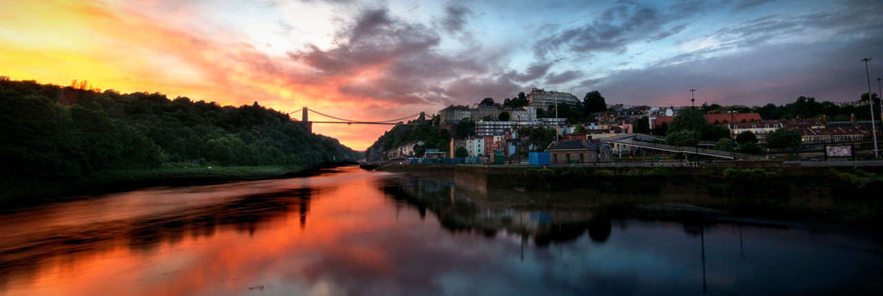 Clifton Suspension Bridge at sunset