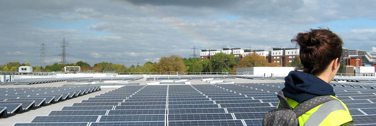 The largest single roof-mounted photovoltaic (PV) array in the UK university sector