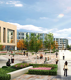 Artists impression of the new UWE campus