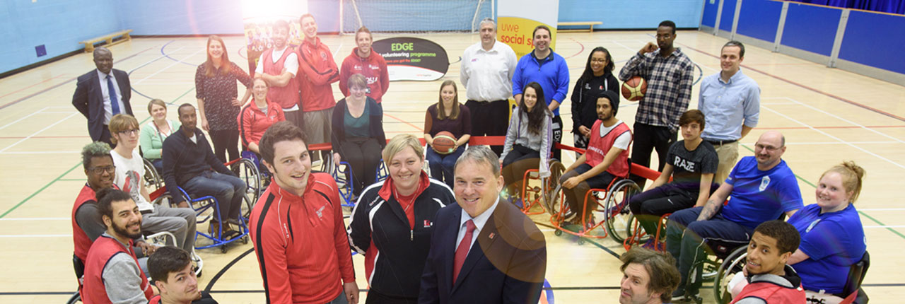 Wheelchair basketball event at UWE Bristol